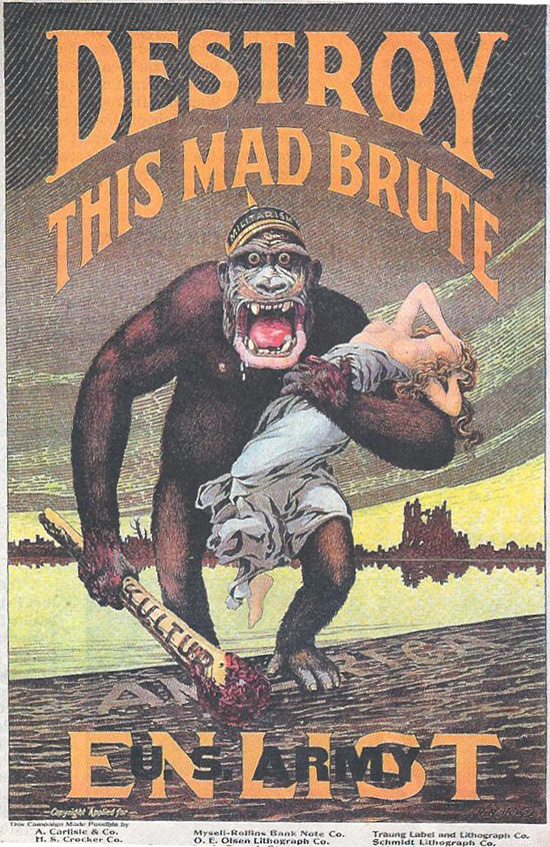 propaganda posters ww1. The poster below was used by